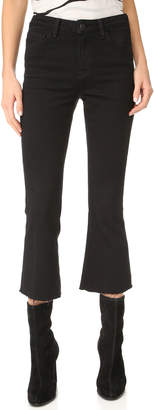 L'Agence Sophia High Rise Crop Flare Jeans