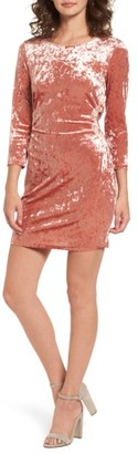 Women's Everly Cutout Velvet Dress $49 thestylecure.com