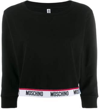 Moschino logo trim sweatshirt