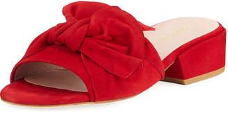 Stuart Weitzman Giftwrap Suede Tied Slide Sandal