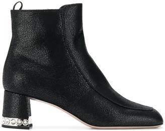 Miu Miu crystal embellished ankle boots