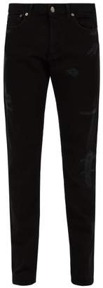 Givenchy Distressed Slim Fit Jeans - Mens - Black