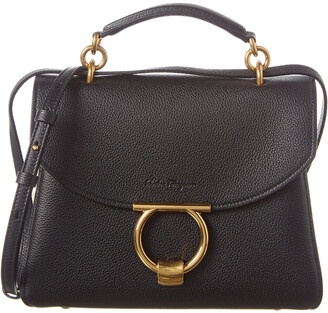 Salvatore Ferragamo Margot Small Leather Satchel