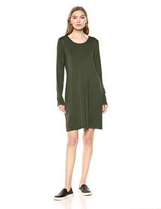 Daily Ritual Women's Jersey Long-Sleeve Scoop-Neck T-Shirt Dress