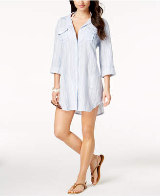 Dotti Chambray Shirtdress Cover-Up Women's Swimsuit