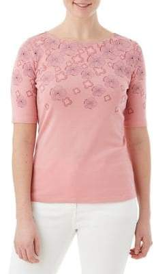 Olsen Casual Coast Floral Scatter Tee