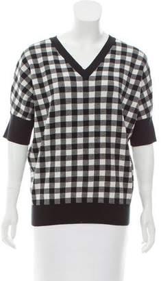 Derek Lam Patterned V-Neck Sweater