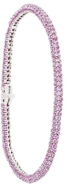 Christian Koban Clou 18kt gold pink sapphire bracelet