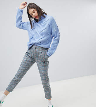 Esprit Checked Peg Leg Pants