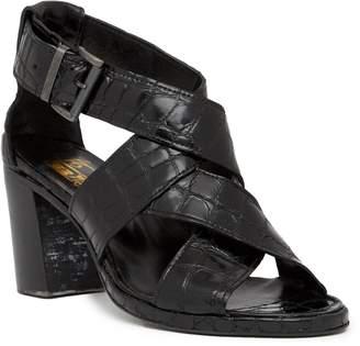 Jo Ghost Croc Embossed Leather Mid Heel Sandal