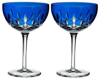 Waterford Crystal Lismore Pops Cobalt Cocktail Glasses, Set of 2