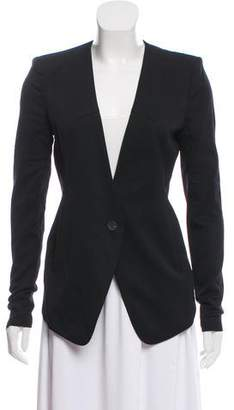 Helmut Lang High-Low Button-Up Blazer