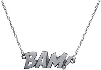 Edge Only - BAM Letters Necklace Large Silver