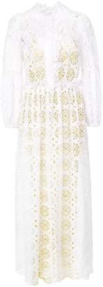 Diane von Furstenberg embroidered A-line dress