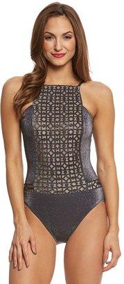 Gottex Mystic Quartz High Neck One Piece Swimsuit 8158676 $328 thestylecure.com