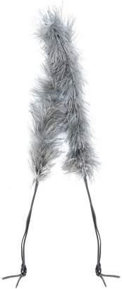 Prada Marabou feather shoulder strap