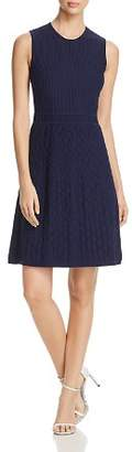 Tory Burch Liam Textured Fit-and-Flare Dress