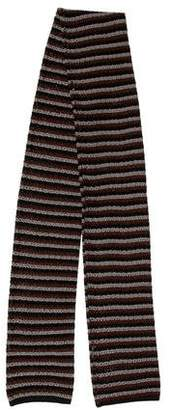 Prada Striped Knit Silk Stole