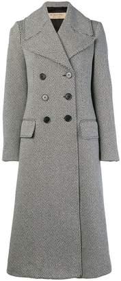 Burberry Herringbone Wool Blend Tailored Coat