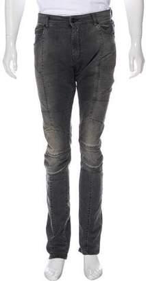 Pierre Balmain Skinny Moto Jeans