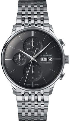 Junghans 027/4324.45 meister chronoscope steel watch