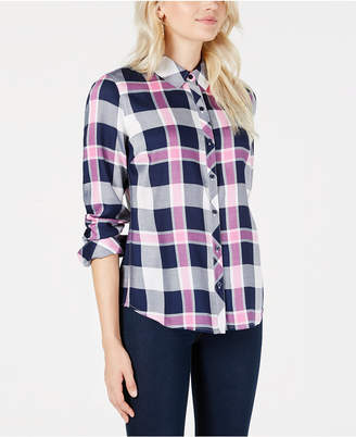Maison Jules Plaid Relaxed-Fit Shirt