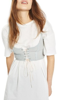 Women's Topshop Corset Tee Tunic $68 thestylecure.com