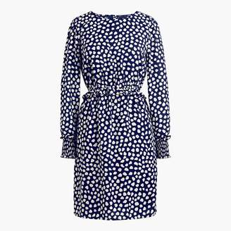 J.Crew Printed long-sleeve fitted dress