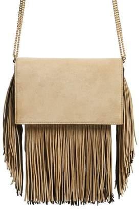 Diane von Furstenberg Fringe Soiree Suede Convertible Crossbody Bag