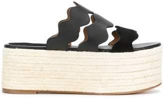 Chloé Lauren flatform sandals