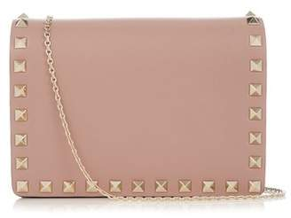 Valentino - Rockstud Leather Shoulder Bag - Womens - Nude