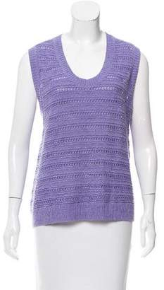 Yigal Azrouel Crew Neck Sleeveless Sweater
