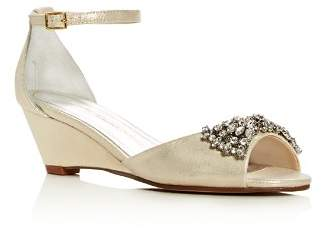 Caparros Hugh Metallic Embellished Wedge Sandals