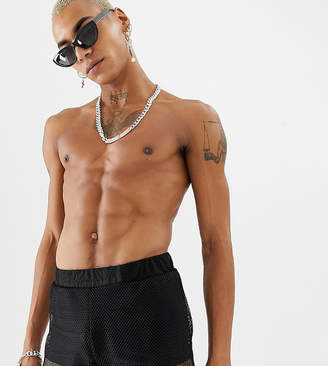 Trunks ASOS DESIGN x LaQuan Smith swimming with mesh overlay