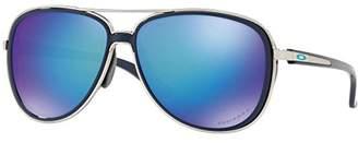 Oakley Women's Split Time Non-Polarized Iridium Aviator Sunglasses