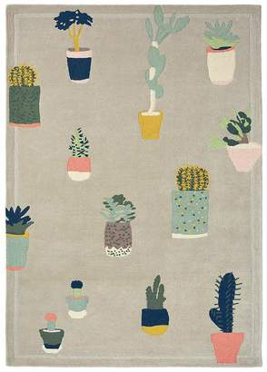Ted Baker Unitex International Cactus Rug Grey