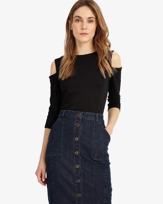 83171c3dbad97f Womens Black Cold Shoulder Tops - ShopStyle UK