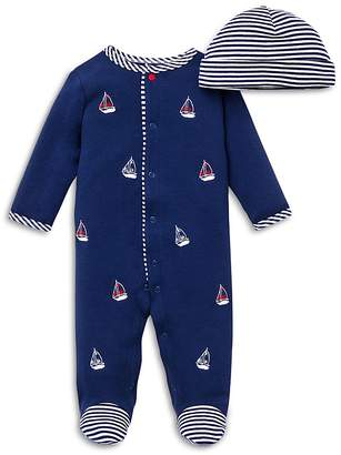 Little Me Boys' Sailboats Footie & Hat Set - Baby