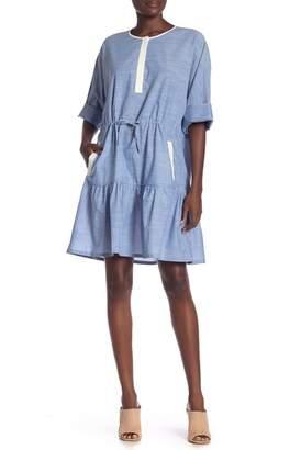 Joie Ecidra Elbow Sleeve Chambray Dress