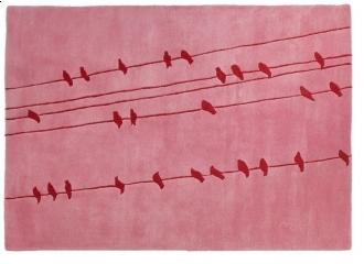 Pin It IndiB Birds Pink Rug