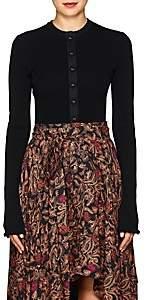 Proenza Schouler Women's Rib-Knit Peplum Cardigan - Black