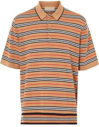 Burberry Stripe knit polo shirt