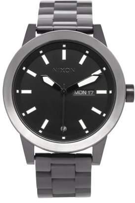 Nixon Men's A263-150 Stainless Steel Analog Black Dial Watch