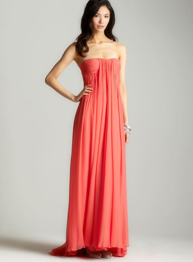 Halston Strapless Long Gown