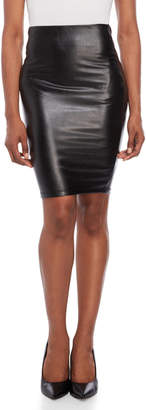 Shinestar Faux Leather Pencil Skirt