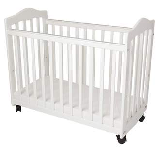 L.A. Baby Bedside Manor Compact Cradle Crib with Mattress
