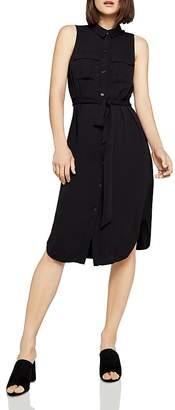 BCBGeneration Tie-Waist Shirt Dress
