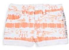 Jessica Simpson Little Girl's Printed Denim Shorts