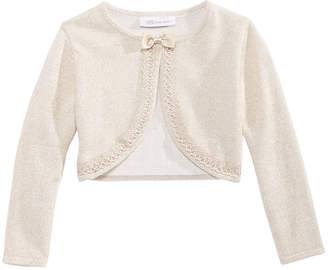 Bonnie Jean Little Girls Metallic Flyaway Cardigan