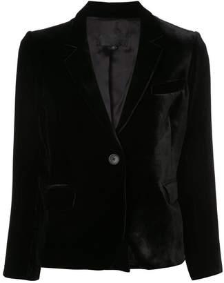 Nili Lotan cropped sleeves velvet blazer